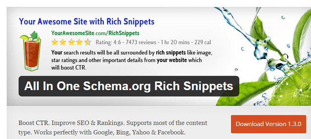 rich snippets en WordPress: all in one schema.org, el plugin