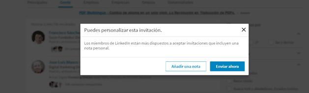 Mensaje personalizados Linkedin
